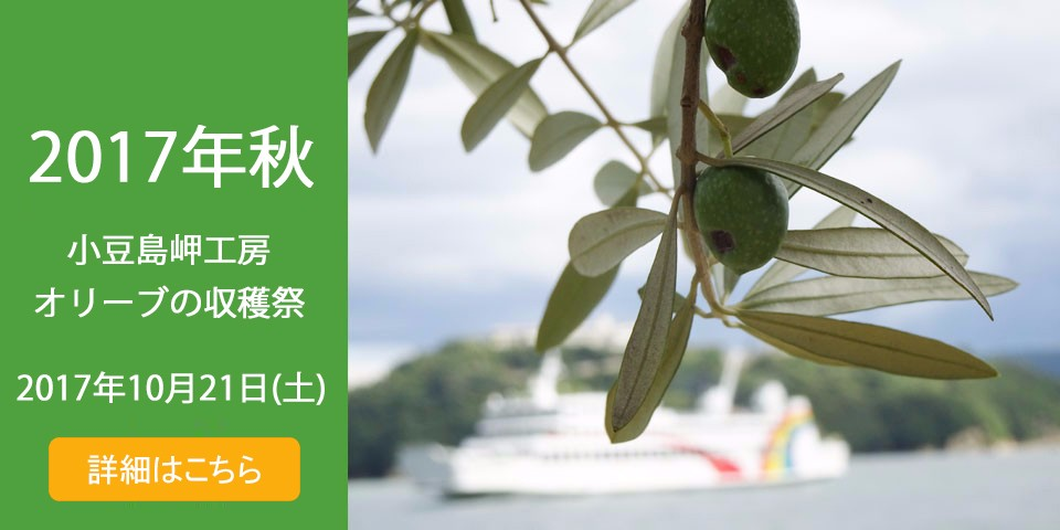 小豆島岬工房「2017オリーブの収穫祭」
